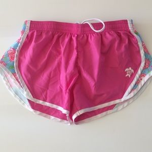 Simply Southern Hot Pink Running Shorts